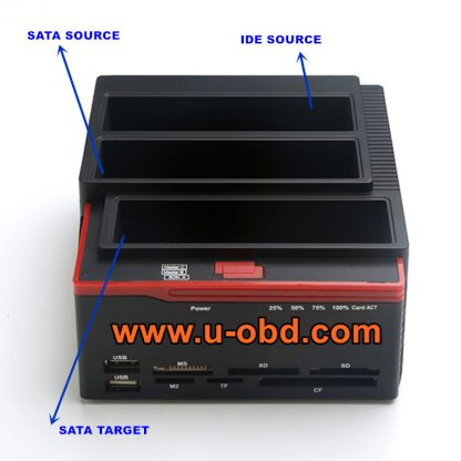 Head unit HDD SSD copy device