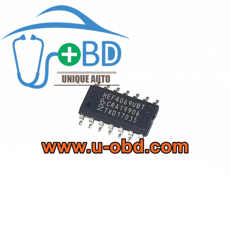 HEF 4069UBT BMW Hybrid DCDC Converter vulnerable chips