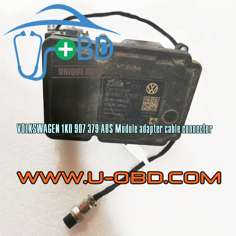Volkswagen Golf 1K0907379 ABS Module adapter cable connector